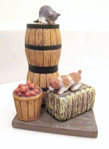 "DANBURY MINT Cute Cats ""HIDE & SEEK"" Porcelain Statue Figurine Animal No... - $19.73"