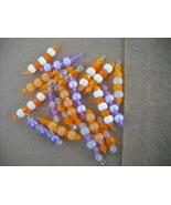 75 pcs- Mix Orange/Purple Plastic bead charms - $14.00