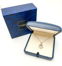 MIKIMOTO Authentic K18WG 6.7mm Akoya Pearl Bell motif Necklace Used Japan - $677.59