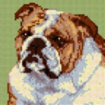 Latch Hook Rug Pattern Chart: ENGLISH BULLDOG PillowTop - EMAIL2u - $5.50