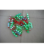 75pcs- Mix Red/Green Plastic bead charms - $14.00