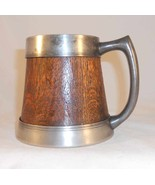 Antique Arts and Crafts Silver Plate and Finnish Oak Stein St. Louis Sil... - $69.60