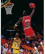 MICHAEL JORDAN & MAGIC JOHNSON 8X10 PHOTO CHICAGO BULLS  BASKETBALL NBA - $3.95