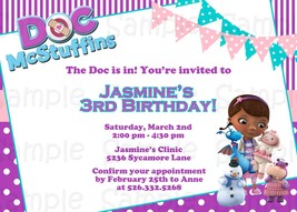 Printable Doc McStuffins complete party: with invitation, custom, birthday image 5