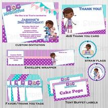 Printable Doc McStuffins complete party: with invitation, custom, birthday image 1