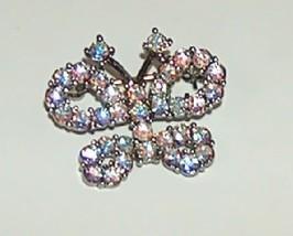 Butler Fifth Avenue Rhinestone Butterfly Pin Brooch - $24.99