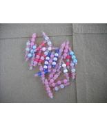 75 pcs- Mix Pink/Blue Plastic bead charms - $14.00