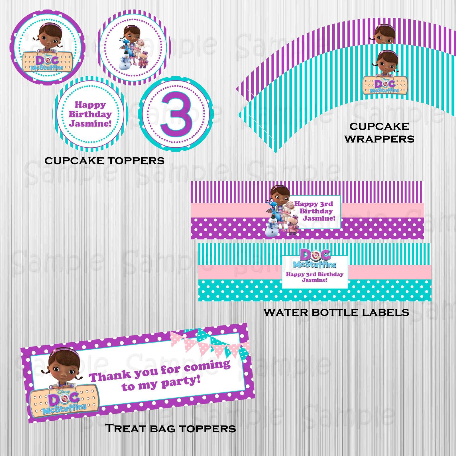 Printable Doc McStuffins complete party: with invitation, custom, birthday image 2