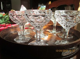 Fostoria AMERICAN  Low Champagne Glasses  or Sherbet glasses(8) - $32.00