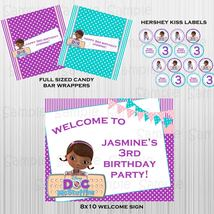 Printable Doc McStuffins complete party: with invitation, custom, birthday image 3