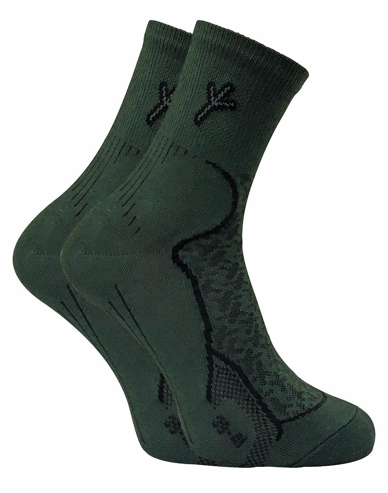 Primary image for Dr Hunter - 2 Pack Mens Antibacterial Anti Odor Cotton Green Hiking Boot Socks