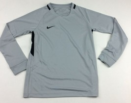 New Nike Youth Unisex Medium L/S Shirt Futbol Soccer Dri-FIT Gray Black ... - $12.86