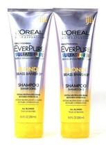 2 Bottles L'Oreal 8.5 Oz EverPure Sulfate Free Blonde Brass Banisher Sha... - $24.99