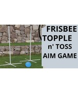 Outdoor Frisbee Topple N' Toss Aim Game Set Summer Beach Yard Activity F... - $29.69