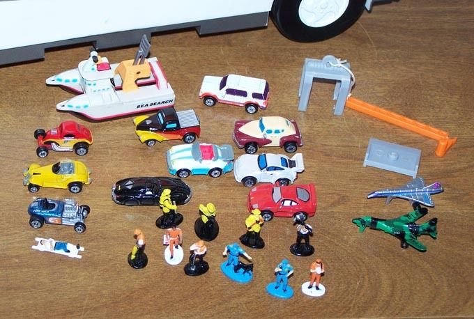 Micro Machine Cars and Motor Home Set Up
