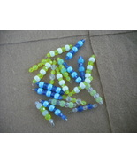 75 pcs- Mix Yellow/Blue Plastic bead charms - $14.00