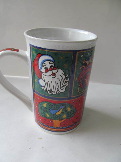 Primary image for Christmas Tea Coffee Latte Tea Mug Cup with Gift Box 12 Oz - NEW IN BOX