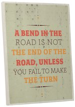 """Pingo World 0107Q9YRUHA """"Bend In The Road"""" Inspirational Motivational Happiness  - $43.51"""