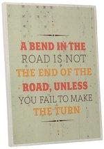 "Pingo World 0107Q9YRUHA ""Bend In The Road"" Inspirational Motivational Ha... - $43.51"