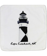Embroidered Cushion Pillow Cover Marine Art Throw Pillow Cape Lookout Lighthouse - $19.95