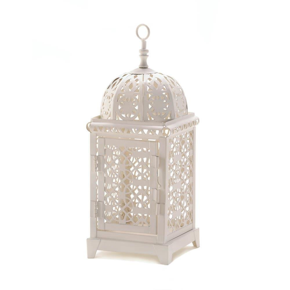 outdoor patio lanterns, Moroccan Aura metal decorative floor outdoor lanterns