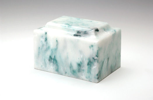 Oversize Classic Onyx Teal Adult Cremation Urn, 325 Cubic Inches, TSA Approved