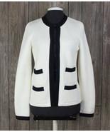 New Talbots Cardigan Sweater S size Ivory Black Career Work Womens Quali... - $59.40