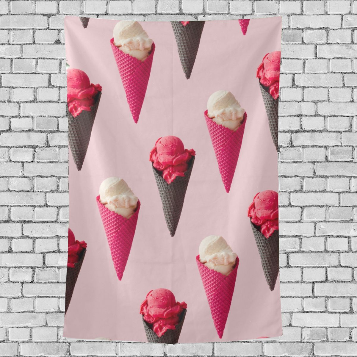 Bedroom Art Supplies: Art And Wall Decor Ice Cream Cool Summer Supply Pattern