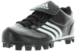 Adidas Tater 3 Taille 4 M Medium (Y) Jeunes Enfants Baseball Crampons Noir Blanc - $15.97
