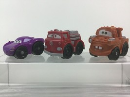 Fisher Price Wheelies Cars 2 Red Firetruck Tow Mater Holly Shiftwell Dis... - $17.77