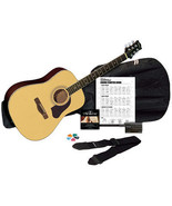Silvertone SD3000 41 Dreadnought Acoustic Guitar Bundle Tuner Bag Strap - $119.99