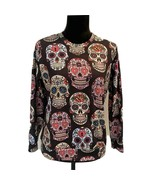 NEW - Poison rules- sugar skull SIZE LARGE BROWN PULLOVER - $17.45