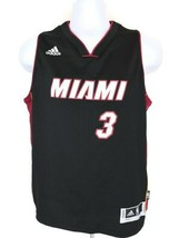 Adidas NBA Miami Heat Dwyane Wade #3  Youth Boy Jersey   Black  Size L (14-16) - $16.82