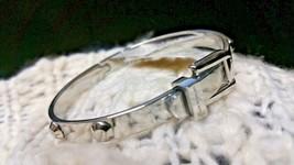 Michael Kors Stainless Heritage ASTOR Buckle Studded Bangle Bracelet MKJ... - $71.52