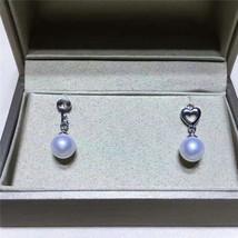 freshwater pearl 925 silver earring,(03076) - $32.00