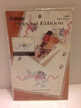 Bucilla Special Edition Doves Dresser Scarf Stamped Goods Cross Stitch Birds New - $6.79