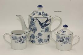 Arita Blue damask tea set. Design by gear Japan. Sugar bowl, creamer,& c... - $100.00