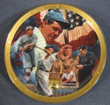 Royal Doulton Legendary Babe Ruth Sultan Of Swat Collector Plate Frankli... - $29.95