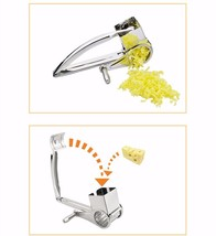 Rotary Cheese Grater Stainless Steel Cheese Slicer Kitchen Cheese Butte... - $25.00