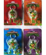 TMNT Teenage Mutant Ninja Turtles Set of 4 Keychains Nickelodeon 2015 Br... - $18.99