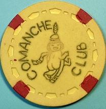 $5 Vintage Casino Chip. Comanche Club, La Mesa, CA. 1955. Q38. - $14.50