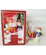 "Gorham Winter Follies Snowman Votive Crystal & Resin Candle Holder 5""  - $13.00"