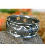 Vintage Hearts Sterling Silver Band Ring Openwork Size 6 - $24.95
