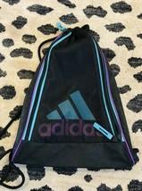 Adidas Black Cinch Nylon Net Backpack Bag - $15.52