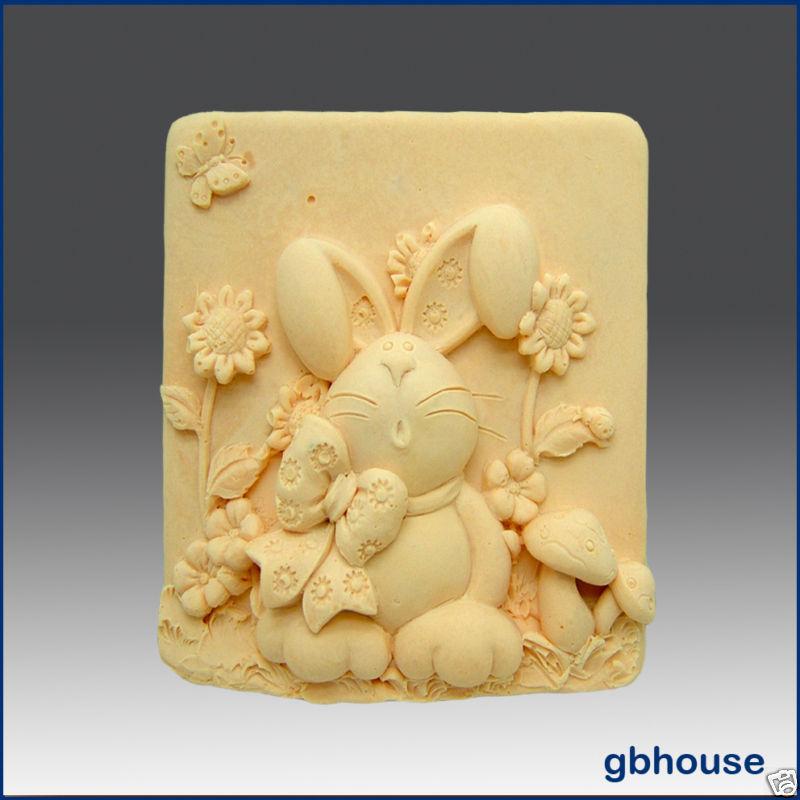 Bunny, Bow and Daisies – Silicone Soap Mold Bonanza