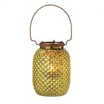 metal candle lamp, decorative Green Diamond Tealight glass lantern candl... - £13.99 GBP