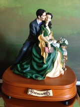San Francisco Music Box Co - Rhett & Scarlett on a Bench Gone With the Wind - $200.00