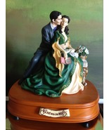 San Francisco Music Box Co - Rhett & Scarlett on a Bench Gone With the Wind - $200.00