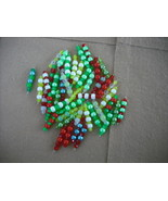 75 pcs- Mix Green/Yellow/Blue/Red Plastic bead ... - $14.00