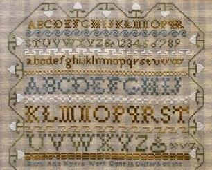 Mary Ann Myers - 1827 sampler cross stitch chart Little House Needleworks